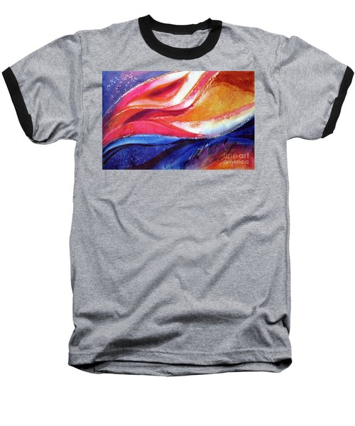 Baseball T-Shirt featuring the painting As I Bloom by Kathy Braud