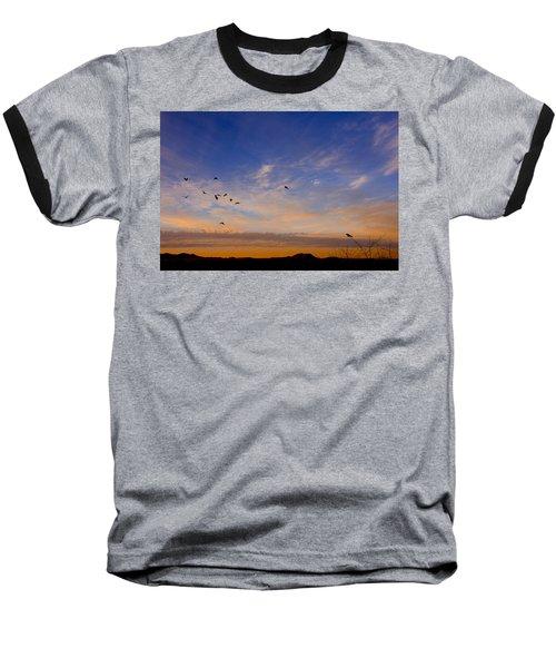 As Night Falls Baseball T-Shirt by Barbara Manis