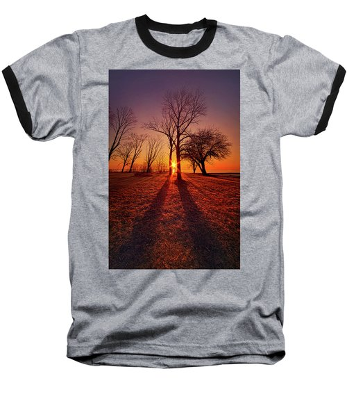 Baseball T-Shirt featuring the photograph As Sure As The Sun Will Rise by Phil Koch