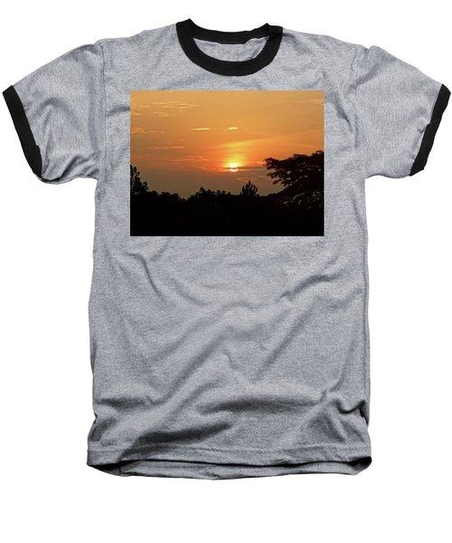 As The Sun Sets ... Orange Baseball T-Shirt by Exploramum Exploramum