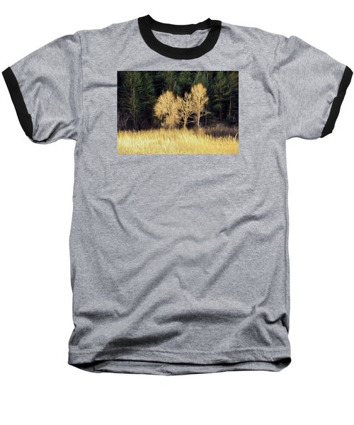 Baseball T-Shirt featuring the photograph As The Sunset's by James Steele