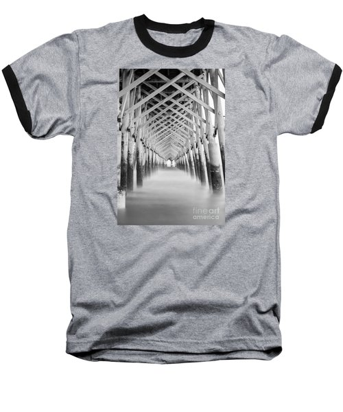 As The Water Fades Grayscale Baseball T-Shirt