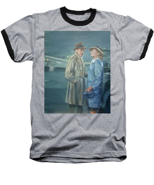 As Time Goes By Baseball T-Shirt by Bryan Bustard