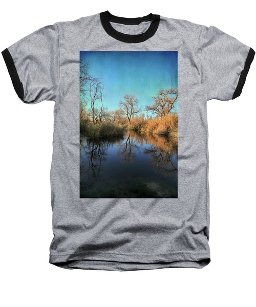 Baseball T-Shirt featuring the photograph As We Taked About The Year by Laurie Search