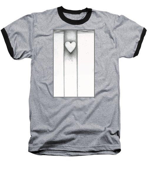 Baseball T-Shirt featuring the drawing Ascending Heart by James Lanigan Thompson MFA