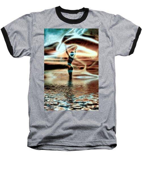 Baseball T-Shirt featuring the digital art Ascension by Pennie McCracken