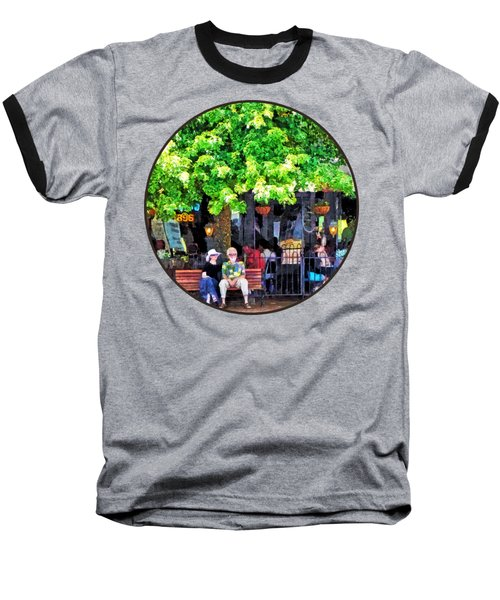 Asheville Nc Outdoor Cafe Baseball T-Shirt by Susan Savad
