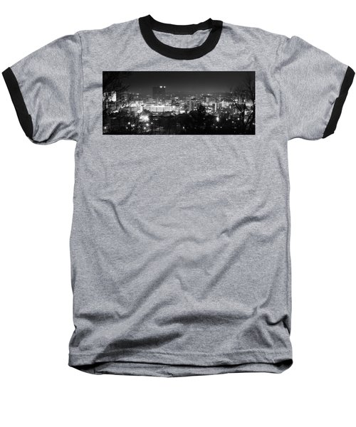 Asheville North Carolina Skyline Baseball T-Shirt