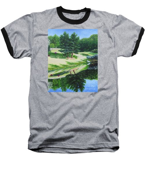 Asheville Reflections Baseball T-Shirt by Anne Marie Brown