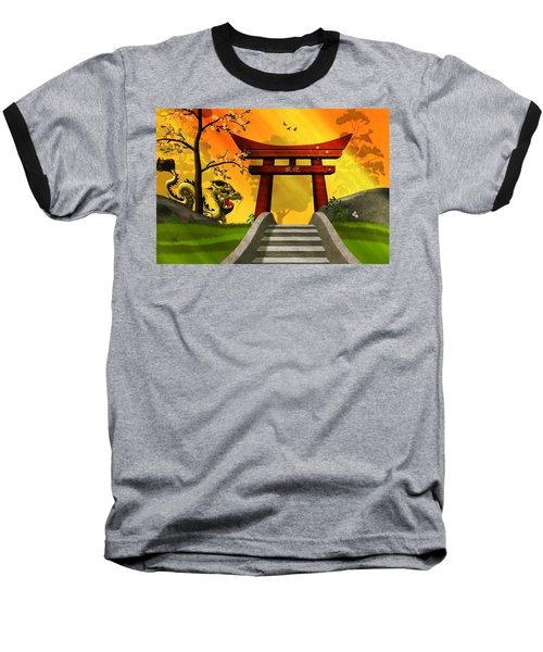 Asian Art Chinese Landscape  Baseball T-Shirt by John Wills