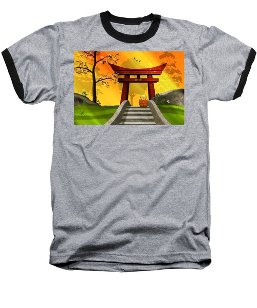 Asian Art Chinese Spring Baseball T-Shirt by John Wills