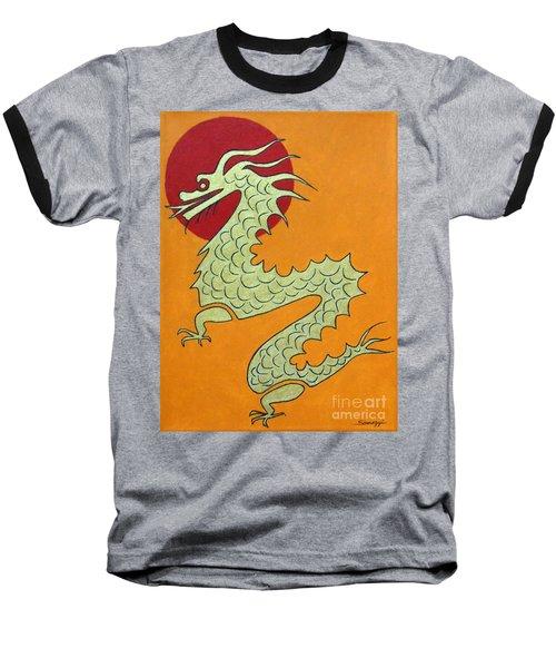 Asian Dragon Icon No. 1 Baseball T-Shirt