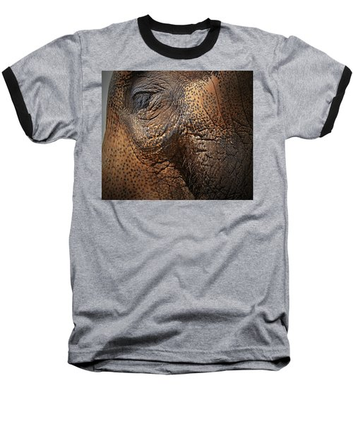Asian Elephant Abstract Baseball T-Shirt