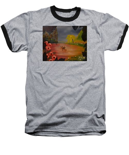 Baseball T-Shirt featuring the painting Asian Lillies by Denise Tomasura