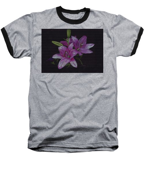 Asian Lillies Baseball T-Shirt