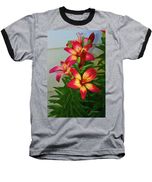 Asian Lilly Spring Time Baseball T-Shirt
