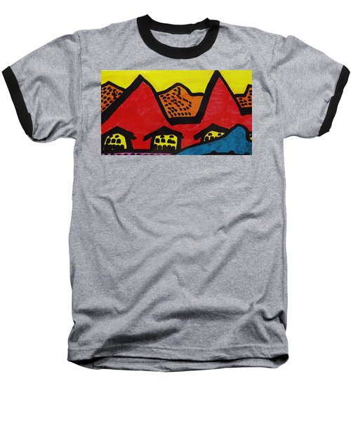 Asian Village  Baseball T-Shirt