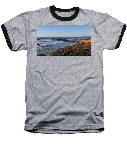 Asilomar Shoreline Baseball T-Shirt by Mark Barclay