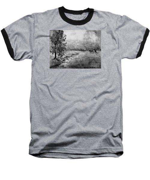 Aska Farm Horses In Bw Baseball T-Shirt