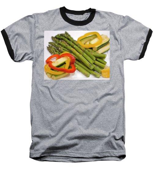 Asparagus Baseball T-Shirt by Loriannah Hespe