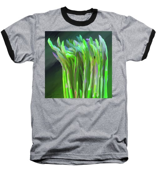 Asparagus Study 01 Baseball T-Shirt by Wally Hampton