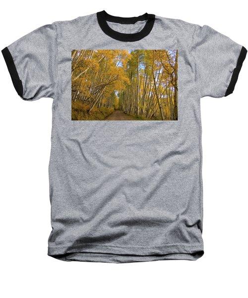 Baseball T-Shirt featuring the photograph Aspen Alley by Steve Stuller