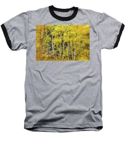 Baseball T-Shirt featuring the photograph Aspen Autumn Burst by Bill Gallagher