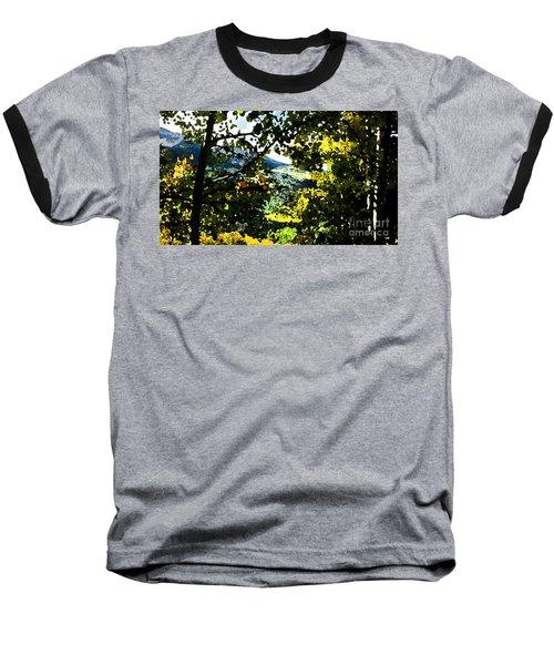 Aspen Effect Baseball T-Shirt by Deborah Nakano