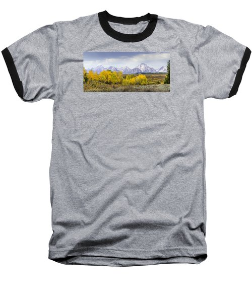 Aspen Gold In The Tetons Baseball T-Shirt