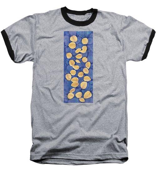 Aspen Leaves On Water Baseball T-Shirt by Carolyn Doe