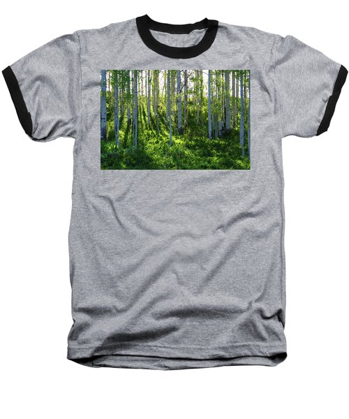 Baseball T-Shirt featuring the photograph Aspen Morning 1 by Marie Leslie