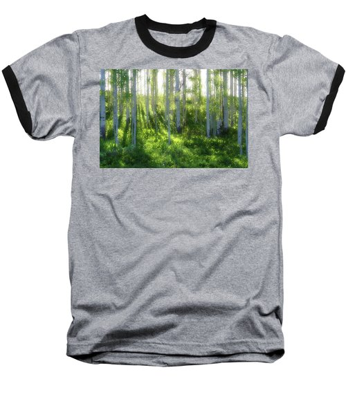 Aspen Morning 3 Baseball T-Shirt by Marie Leslie
