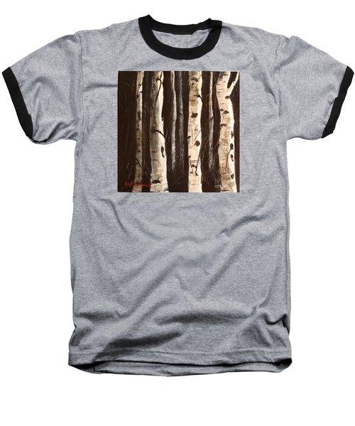 Aspen Stand Baseball T-Shirt by Phyllis Howard