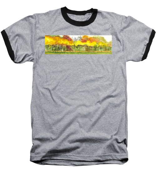 Aspen Trees In Autumn Baseball T-Shirt