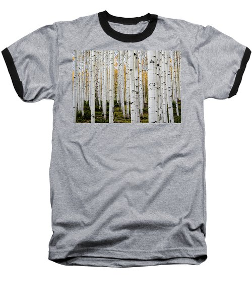 Baseball T-Shirt featuring the photograph Aspens And Gold by Stephen Holst