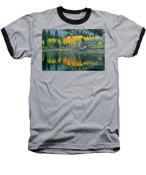 Aspens In Fall Color Along Lundy Lake Eastern Sierras California Baseball T-Shirt