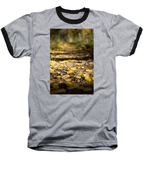 Aspen Leaves On Trail Baseball T-Shirt