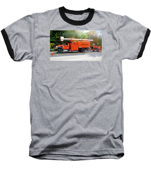Asplundh Tree Expert Company Trucks Baseball T-Shirt