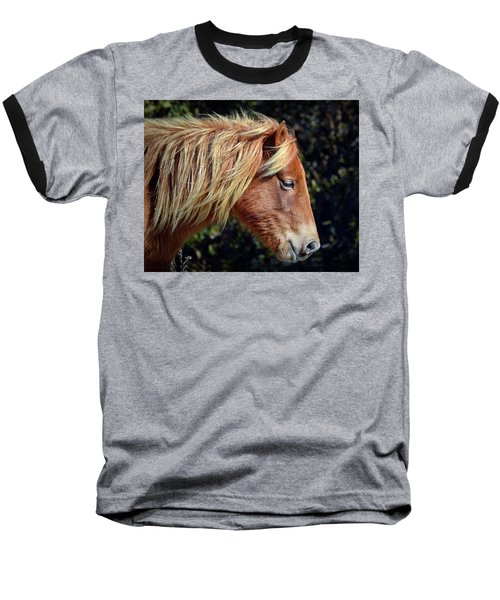Assateague Horse Sarah's Sweet Tea Right Profile Baseball T-Shirt