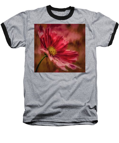 Aster Red Painterly #h1 Baseball T-Shirt
