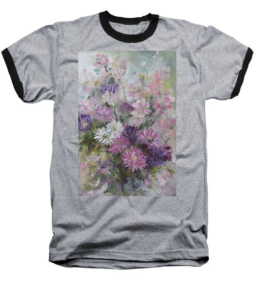 Asters And Stocks Baseball T-Shirt