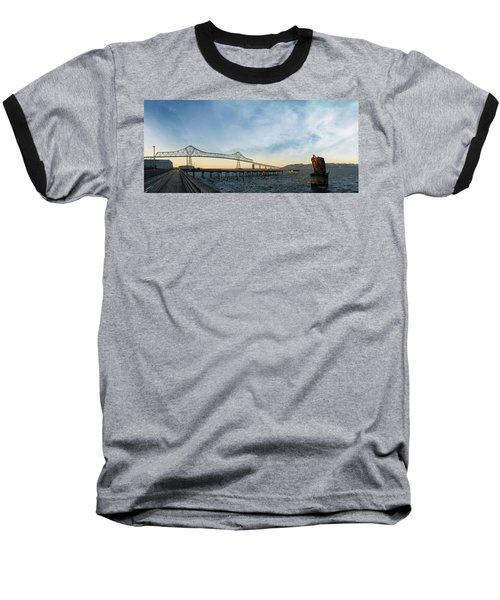 Astoria Megler Bridge By Riverwalk Panorama Baseball T-Shirt