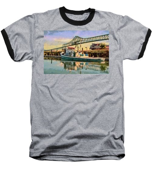 Baseball T-Shirt featuring the painting Astoria Waterfront, Scene 1 by Jeff Kolker