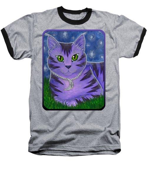 Astra Celestial Moon Cat Baseball T-Shirt