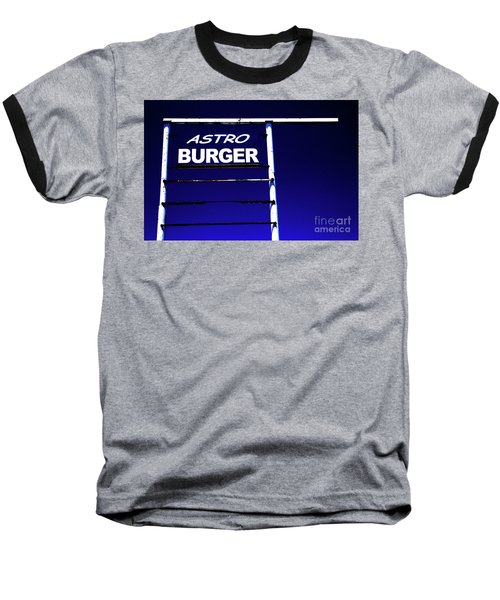 Astro Burger Baseball T-Shirt by Jim and Emily Bush