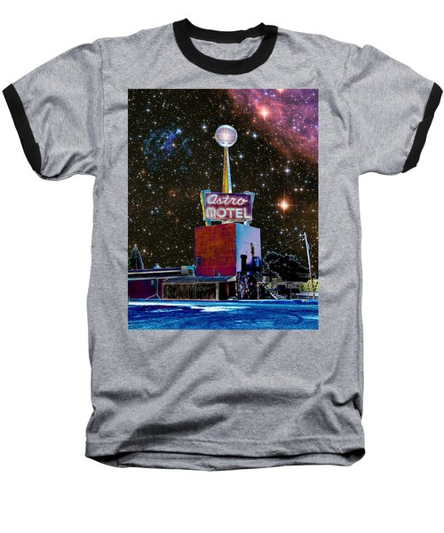 Astro Motel Baseball T-Shirt by Jim and Emily Bush