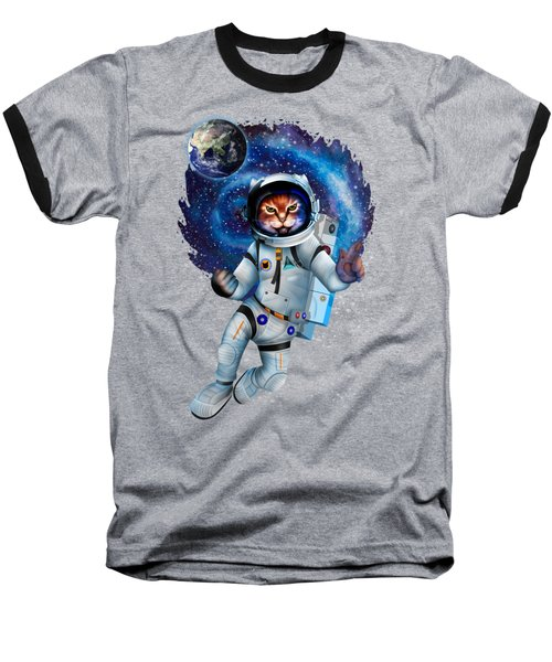 Astronaut Cat Baseball T-Shirt