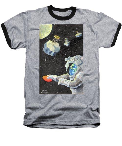 Astronaut Disc Golf Baseball T-Shirt