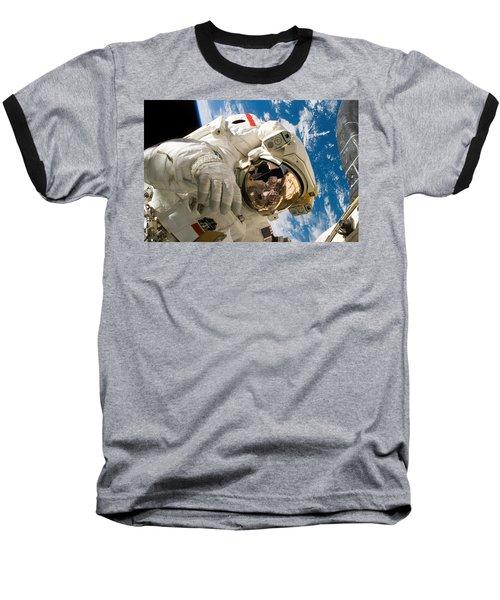 Astronaut During The Third Spacewalk Of Sts-121 Baseball T-Shirt