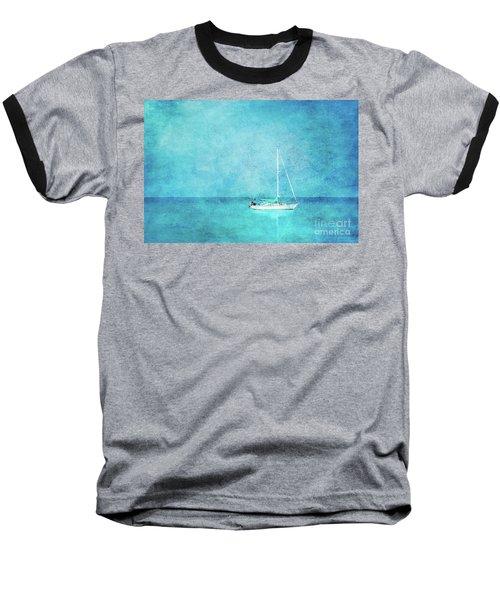 Baseball T-Shirt featuring the mixed media At Anchor by Betty LaRue